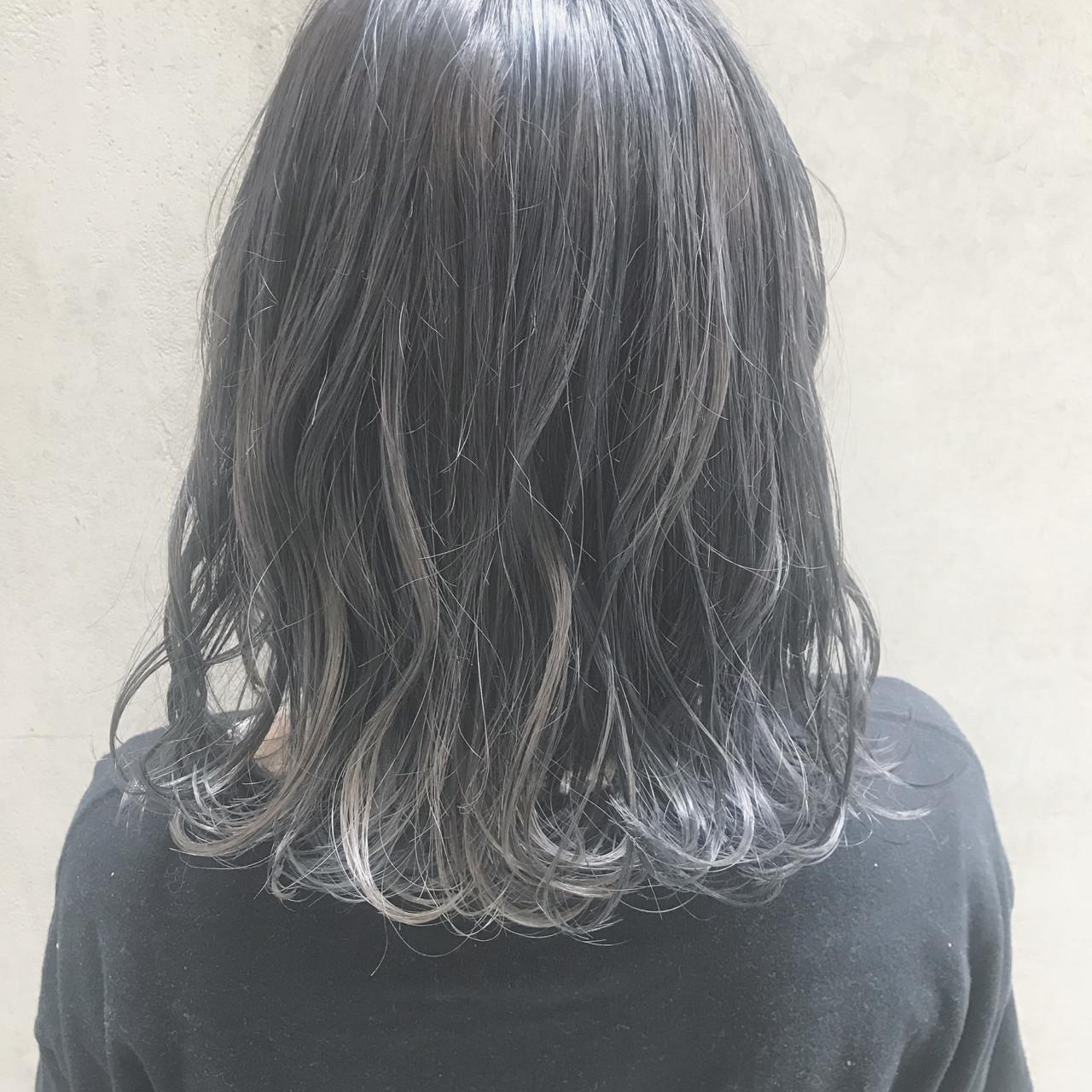 大人かわいい オフィス ミディアム ナチュラル ヘアスタイルや髪型の写真・画像 | Tierra / 町田雄一 / Tierra harajuku