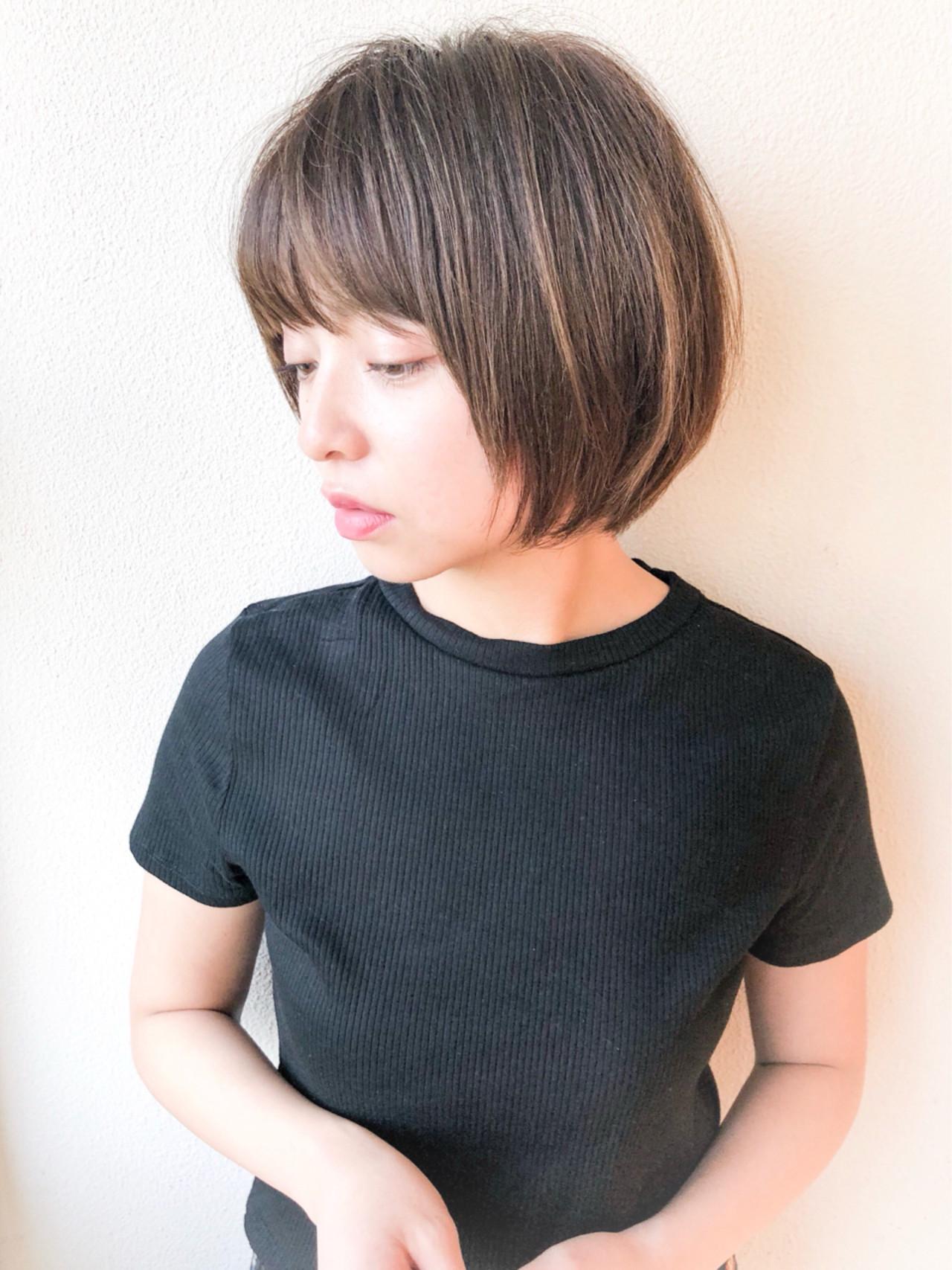ショート 透明感 ボブ ショートボブ ヘアスタイルや髪型の写真・画像