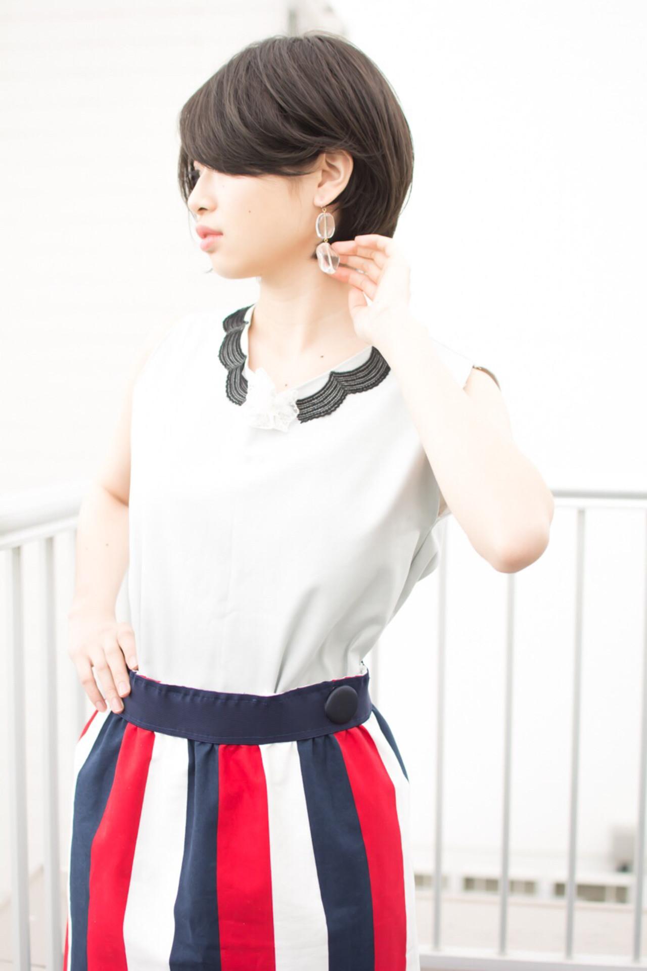 オフィス ショート 色気 女子力 ヘアスタイルや髪型の写真・画像 | 【noine】斉藤 正敏 / noine