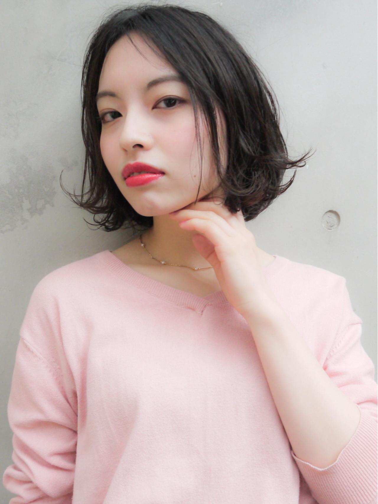 アンニュイ コンサバ ゆるふわ ボブ ヘアスタイルや髪型の写真・画像 | HIROKI / roijir / roijir