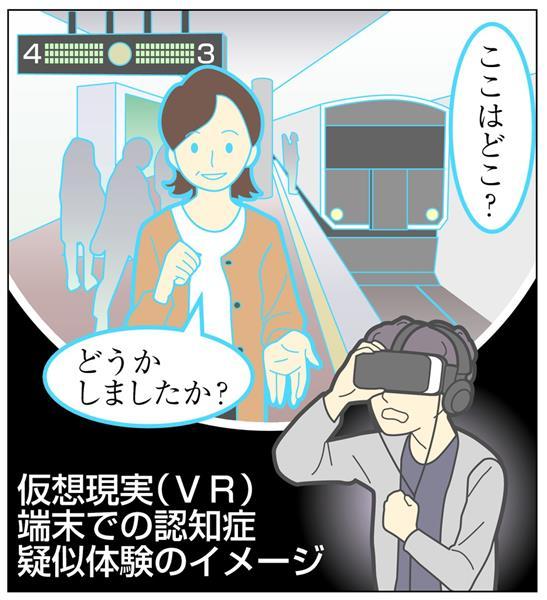 VR使い「認知症」疑似体験 認知症の状況に身を置き気持ち実感