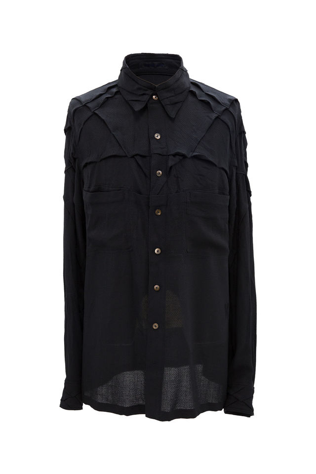 TUCK-DART DECORATION SHIRT