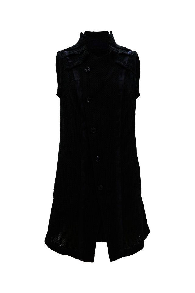 EMBROIDERY NON-SLEEVE LONG VEST