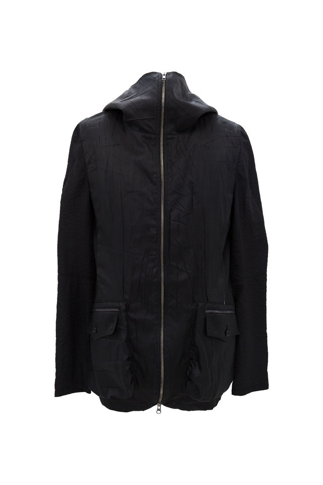 SILK HIGHNECK PARKA