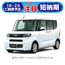 【短納期車】新型タント X