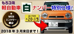 もろコミ 軽自動車 白ナンバー特別仕様! Web申込限定