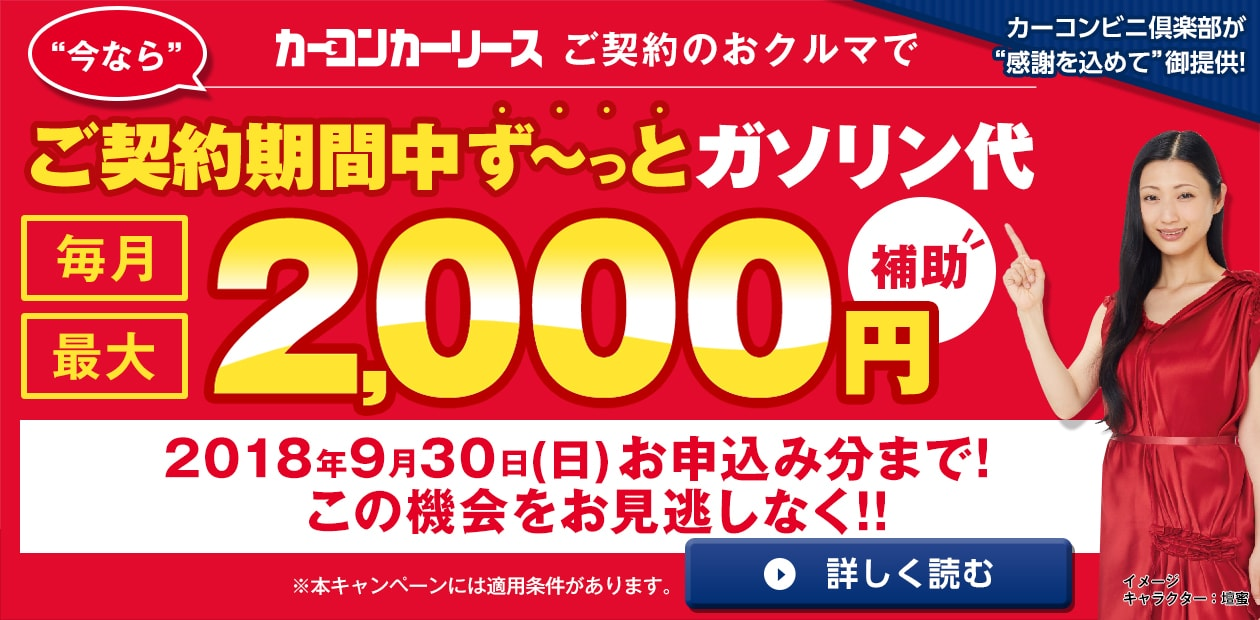 ガソリン20円キャッシュバックキャンペーン