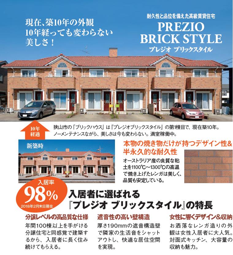 本物のレンガ造りアパートは築10年でも入居率98%1