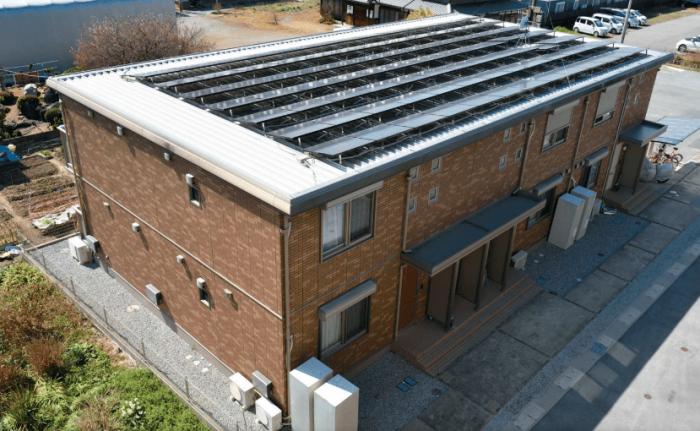 【賃貸住宅の建築成功事例】太陽光発電の電力を入居者に還元!空室リスクの低減で長期安定経営1