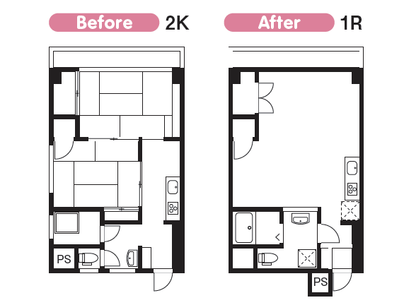 【築古物件の空室対策】成功するリノベーションのポイントと成功実例2