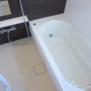 お風呂、広い〜〜〜!