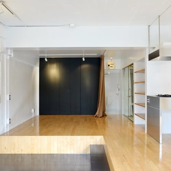 玄関側の空間は収納もあり、洋室として使えそう。