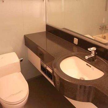 バス・トイレ一体ですがホテルのような高級使用