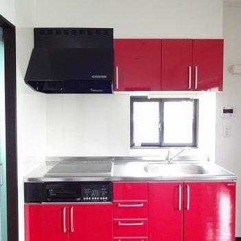 赤のキッチン!