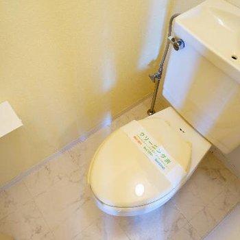 トイレには棚も付いてます♪※前回募集時の写真です