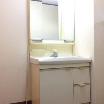 洗面台。新品ではないのでそこまできれいではないです。