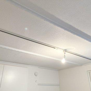 【洋室】こちらのお部屋にもライティングレールが。照明にもこだわれますね。