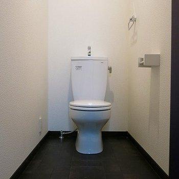 手前に広いトイレ。