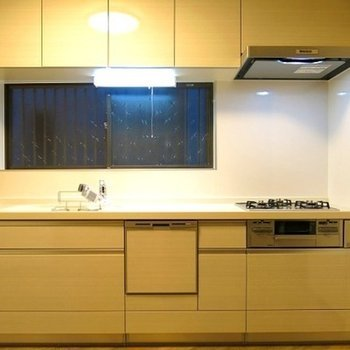 収納もばっちり、食器乾燥機つきキッチン