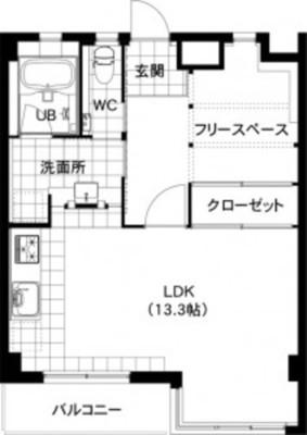 白壁アトリエ(WIC編)の間取り図