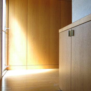 玄関、わりとしっかりと。※写真は別部屋