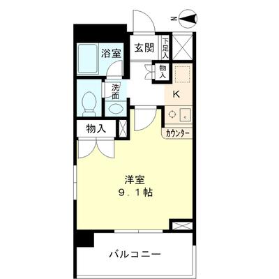 東京タワーに見守られるひとり暮らし の間取り
