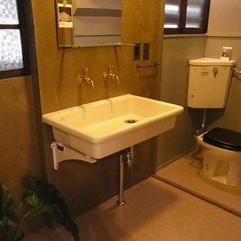この洗面台、いい感じ