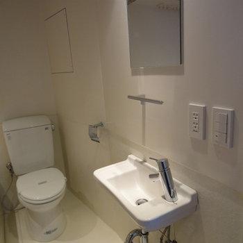 洗面台はちょっと小さめかな・・・※写真は別部屋