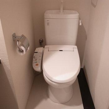 トイレも充分な設備がついてます※写真は別部屋です