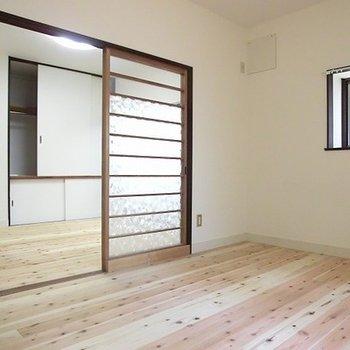 1階4.5帖洋室。ここは無垢床。