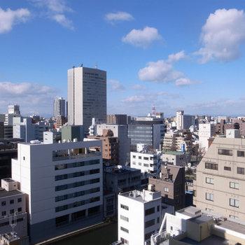 13階からの眺望も抜群にいい※写真は別部屋です。