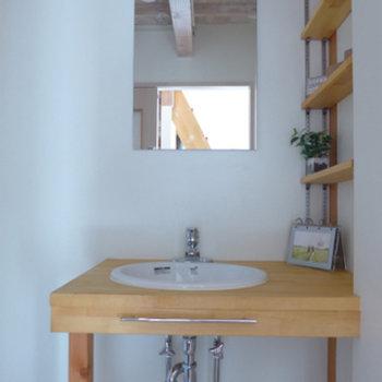 素敵な造作の洗面台♪
