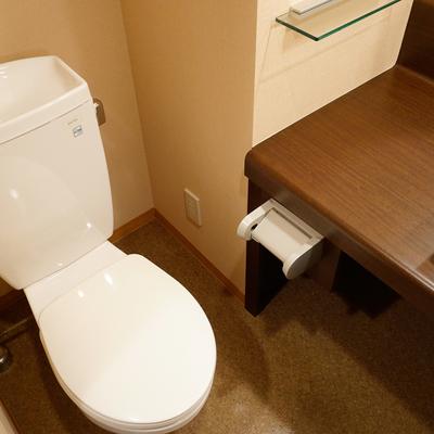 トイレも清潔感あります♪