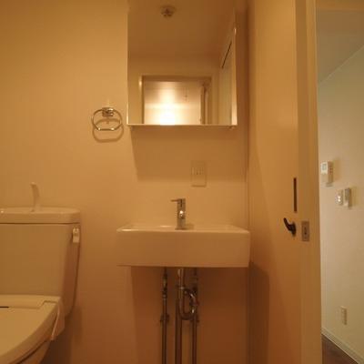 トイレ・洗面は同室です※写真は別部屋