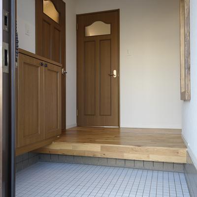 ゆとりのある玄関、一戸建てのよう♪