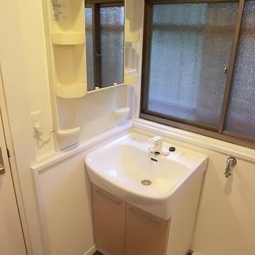洗面台はこちらの既存です。※写真は前回募集時のものです