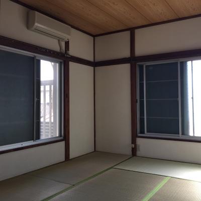 2階も日当りばっちり。天井がgoodです。