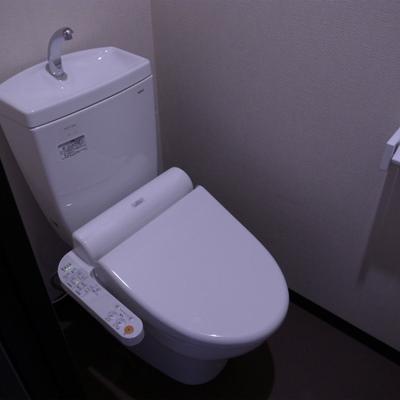 トイレも充分な設備※写真は別部屋です。