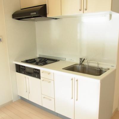 キッチン。シンプルで普通の造り。だからいい。