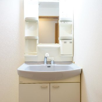 洗面台もしっかり独立!※写真は2階反転間取り別部屋のものです