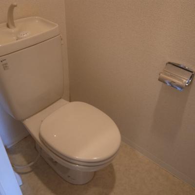 トイレもシンプルです※写真は清掃前のものです)