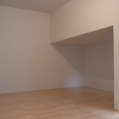 天井が低い部分を上手く使って