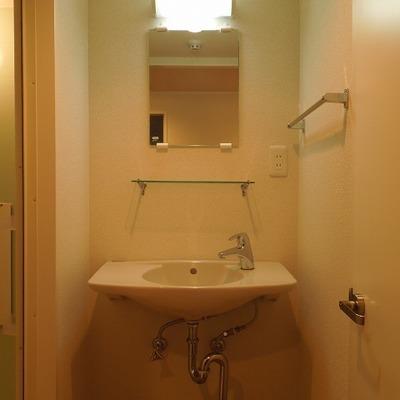 洗面のデザインがちょっと可愛い