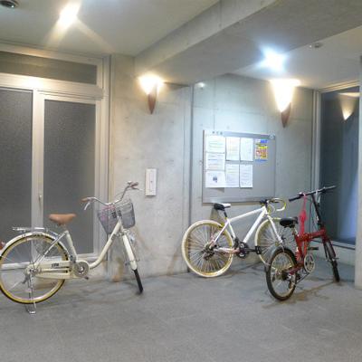 さすが!南船場とだけあって自転車所有者が多いです。