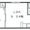 2部屋に仕切れるタイプのお部屋です。