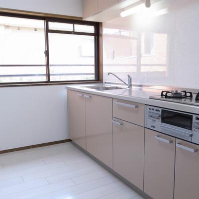 広めのキッチン。窓があるのは嬉しい。