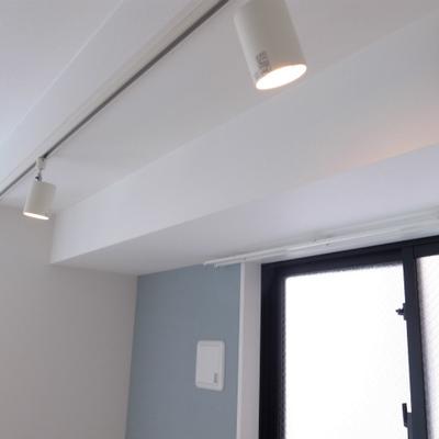 照明はライティングレール※写真は別部屋です。