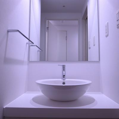 独立洗面台もいい感じです。