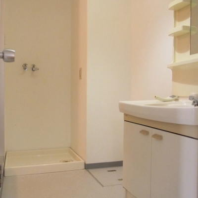 洗面台と脱衣所