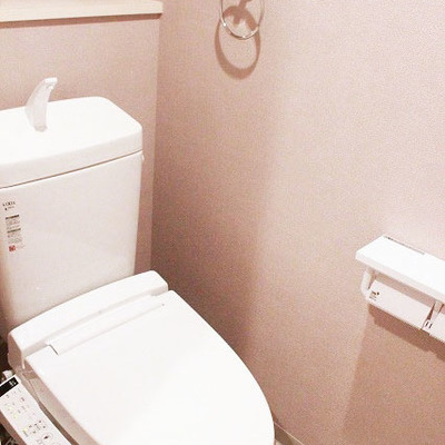 トイレの床がかわいいです。
